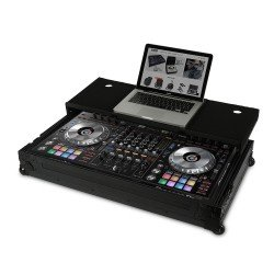 Ultimate Flight Case Pioneer DDJ-RZ/SZ Black Plus (Laptop + Wheels)