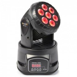 Beamz Mhl74 Mini Cabeza Movil Wash 7X 10W Dmx 12 Canales Quad Led