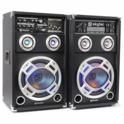 "SkyTec KA-12 Set de Altavoces Activos 12"" USB/RGB LED 1200W"