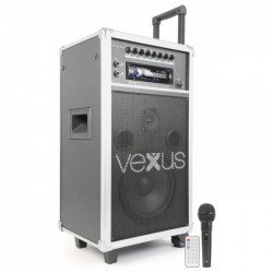 "Vexus ST110 Sistema Portatil de Sonido 8"" CD/SD/USB/MP3"