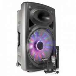 "Fenton FPS15 Sistema portatil de sonido 15"" BT/MP3/USB/SD/VHF/LED"