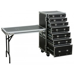 Power Dynamics PD-FA5, Flightcase de 7 Cajones + Mesa