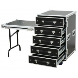 Power Dynamics PD-FA6 Flightcase de 5 Cajones 3U + Mesa