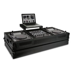 ultimate flight case cdj 2000 900 nexus ii black laptop shelf
