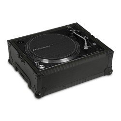 ultimate flight case multi format turntable black trolley wheels