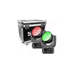 BeamZ MHL1915 Cabeza Movil LED Zoom 2pcs en Flightcase
