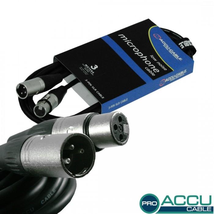 Accu-Cable XLR 3metros