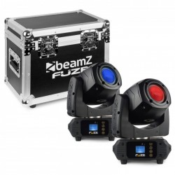 Beamz Fuze75S Set 2 pcs Cabeza Movil Spot 75W LED en Flightcase