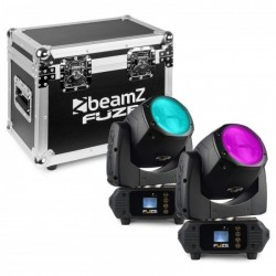 Beamz Fuze75B Set 2 pcs Cabeza Movil 75W LED en Flightcase