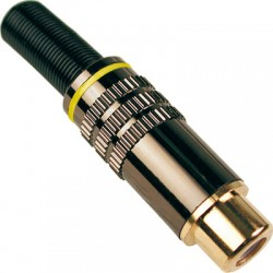 Conector Rca Hembra marca amarilla