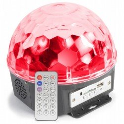 Max Magic Jelly DJ Ball al ritmo de la musica 6x 1W LED con reproductor MP3