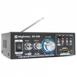SkyTronic AV360 Mini amplificador con FM/SD/USB/MP3