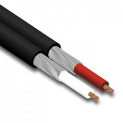 Cable paralelo de señal negro por metro