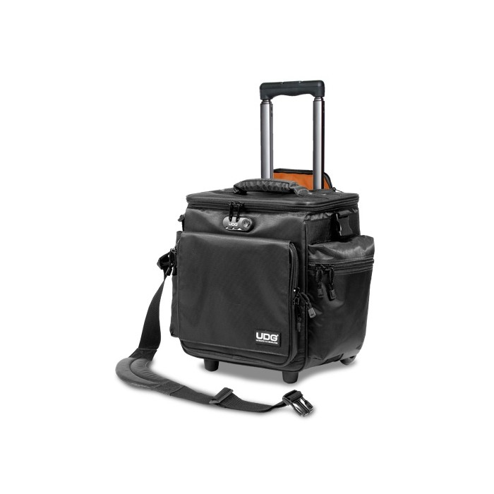 ultimate slingbag trolley deluxe black orange inside